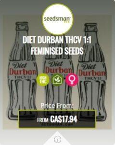 Diet Durban THCV 1.1 Feminized Seeds For Sale